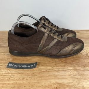 Ecco Shock Point Walking Casual Shoes Brown Suede